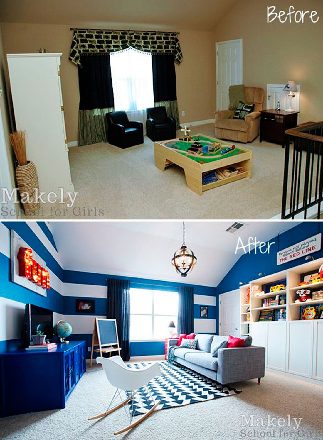 these before and after home makeovers will instantly inspire your rh pinterest com