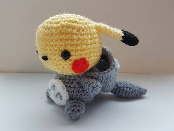 Totoro Azul Amigurumi : Totochu pikachu totoro amigurumi crochet pikachu plush my