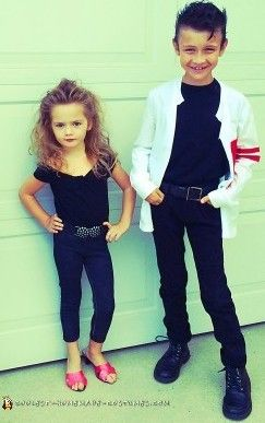 Adorably Easy Homemade Grease Couple Costumes Homemade Couples Costumes Diy Girls Costumes Cool Halloween Costumes