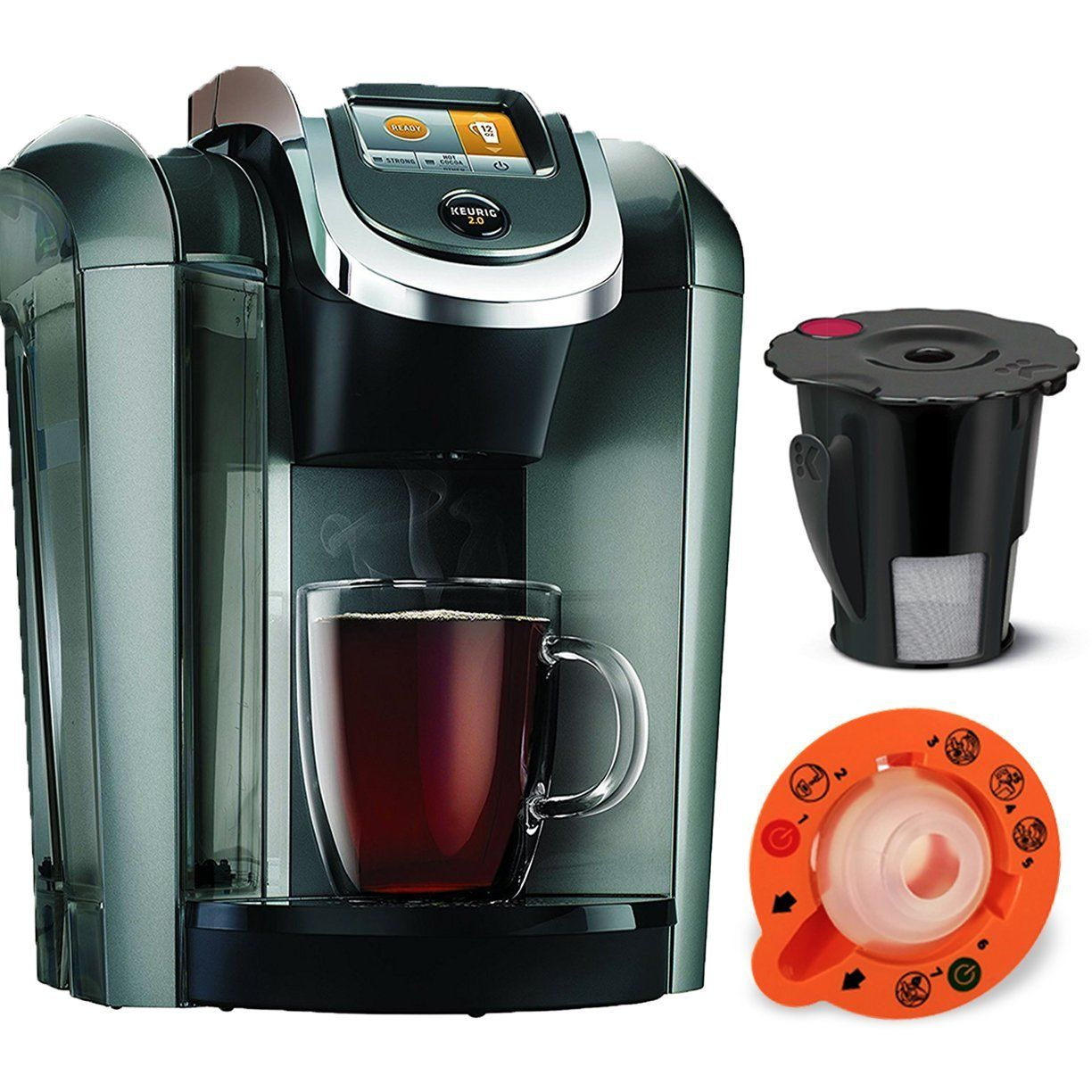 Keurig K545 Plus Coffee Maker Single Serve 2 0 Brewing System Exclusive Offer Includes 2 0 Brewer Top Single Coffee Maker Keurig Coffee Makers Keurig Coffee