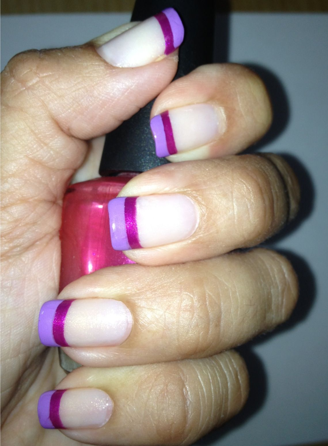 two tone french manicure - maybe not in these colours, but its a