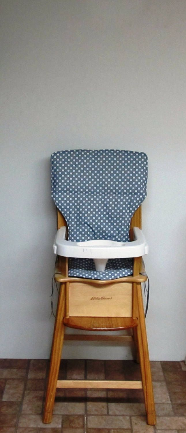 Childs Chair Pad, Eddie Bauer High Chair Cushion, Jenny Lind Chair Pad,  Baby Feeding Chair, Nursery Furniture, Kids Furniture, Dotted Gray