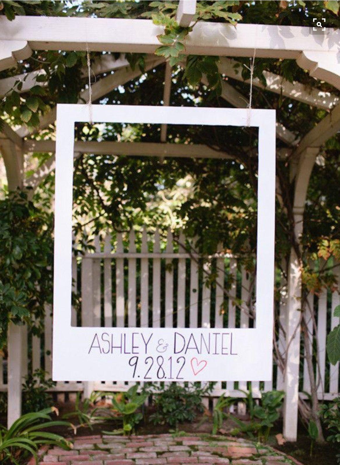 wedding photo booth props printable%0A Polaroid photo booth backdrop for rustic wedding ceremony ideas  rusticweddings weddingideas elegantweddinginvites