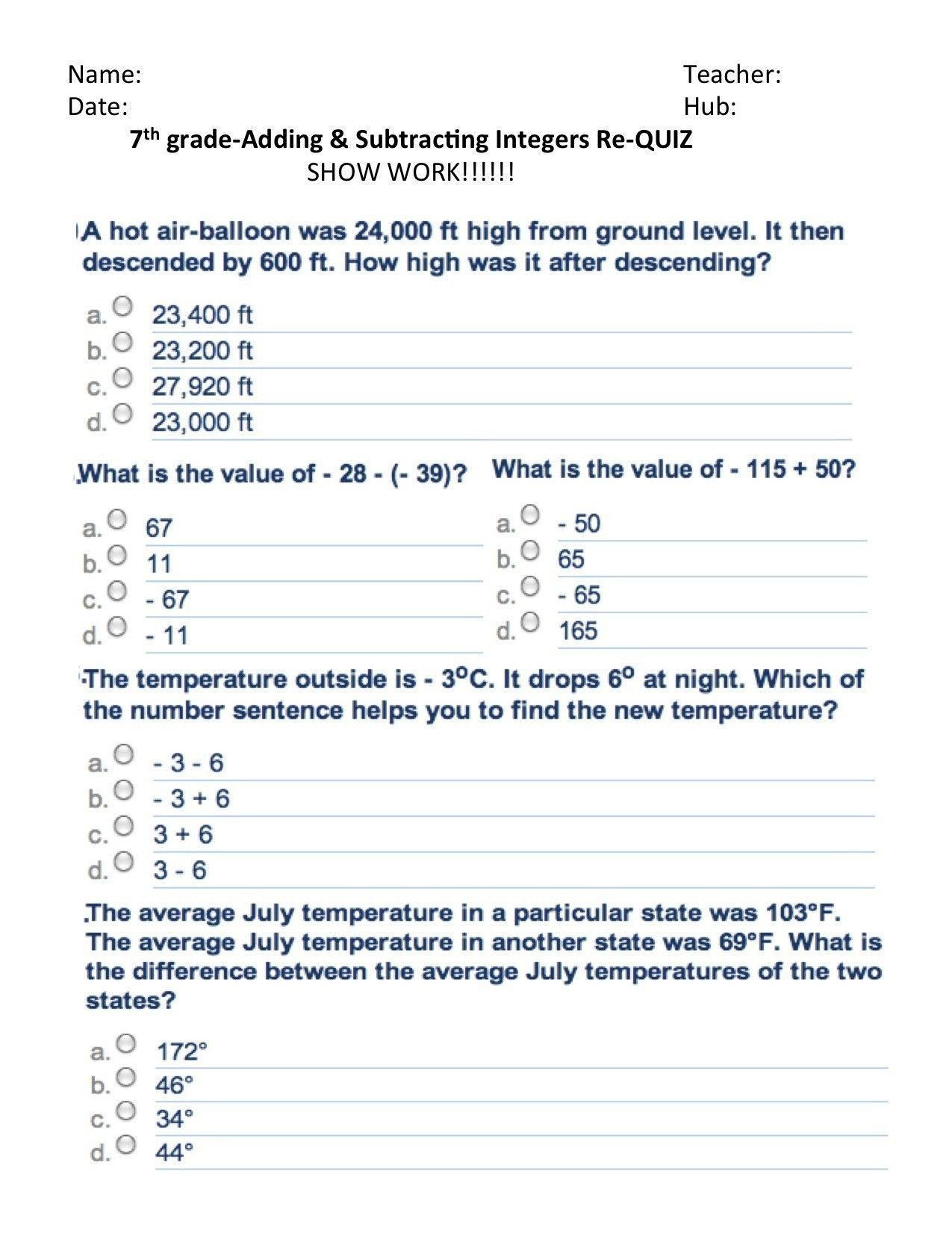 9 Legal Probability Worksheets 7th Grade Di