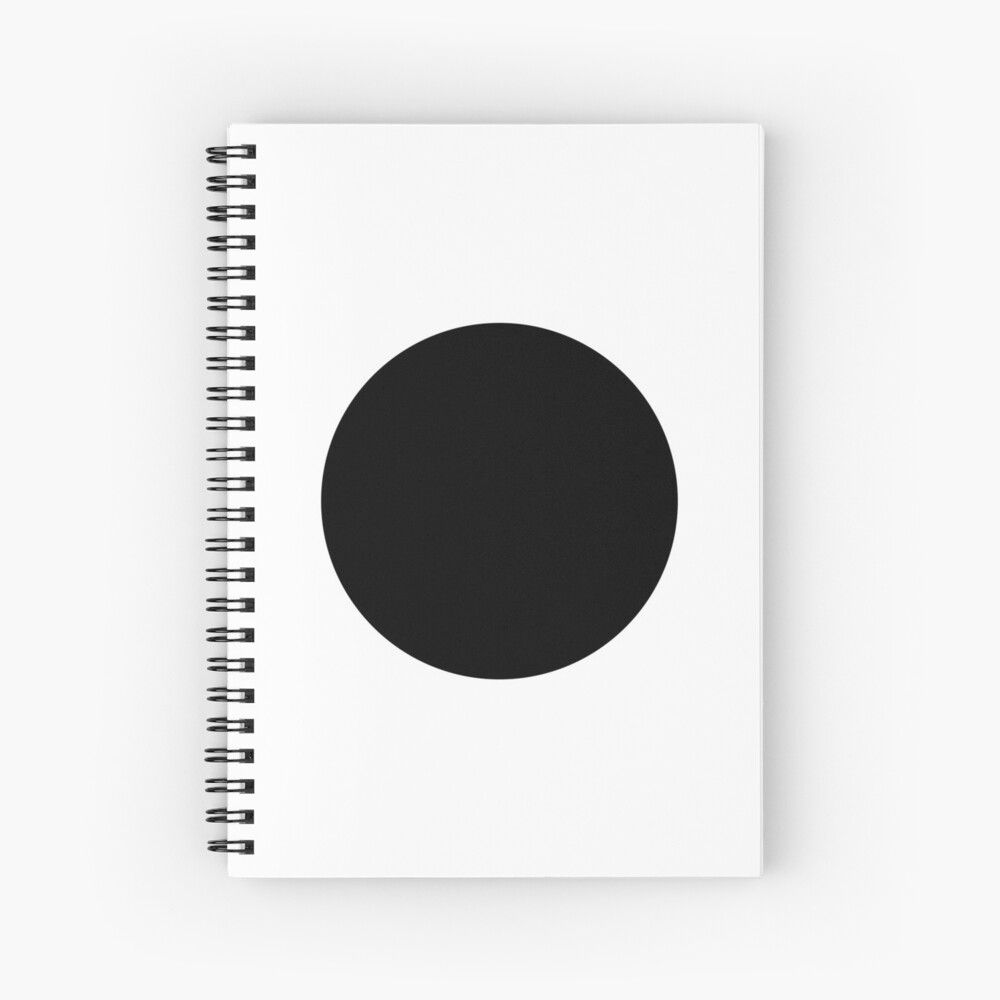 Black Dot Design Spiral Notebook By Another Studio Design In 2020 Dots Design Black Dots Graphic Design Branding