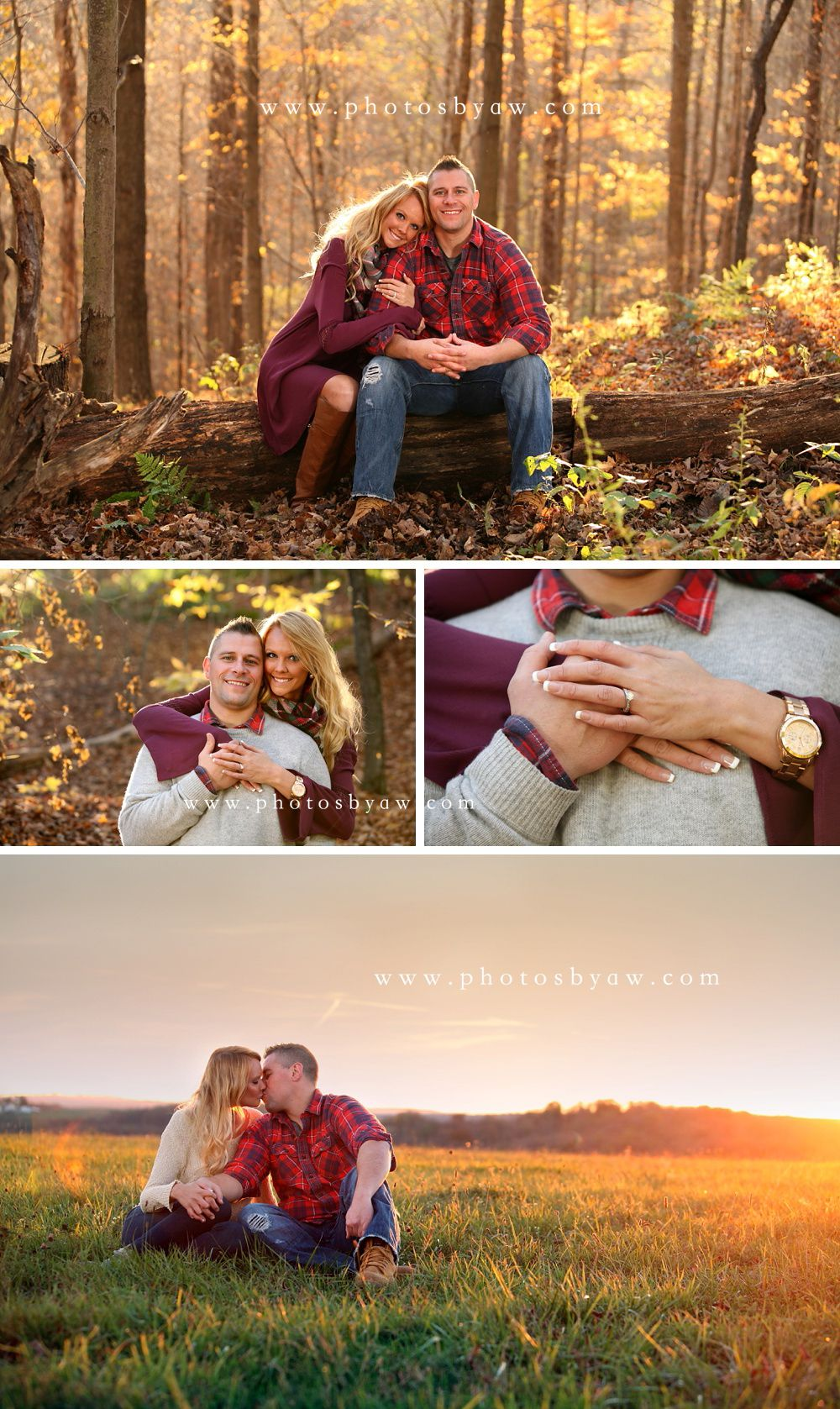 Pennsylvania fall engagement photos ©Copyright 2015 Photography by Amanda Wilson