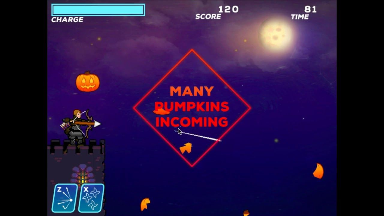 Shoot Down The Ghost Pumpkin Flying Up How Much You Will Earn Points In This Simple Game Simple Game Ghost Pumpkin Pumpkin