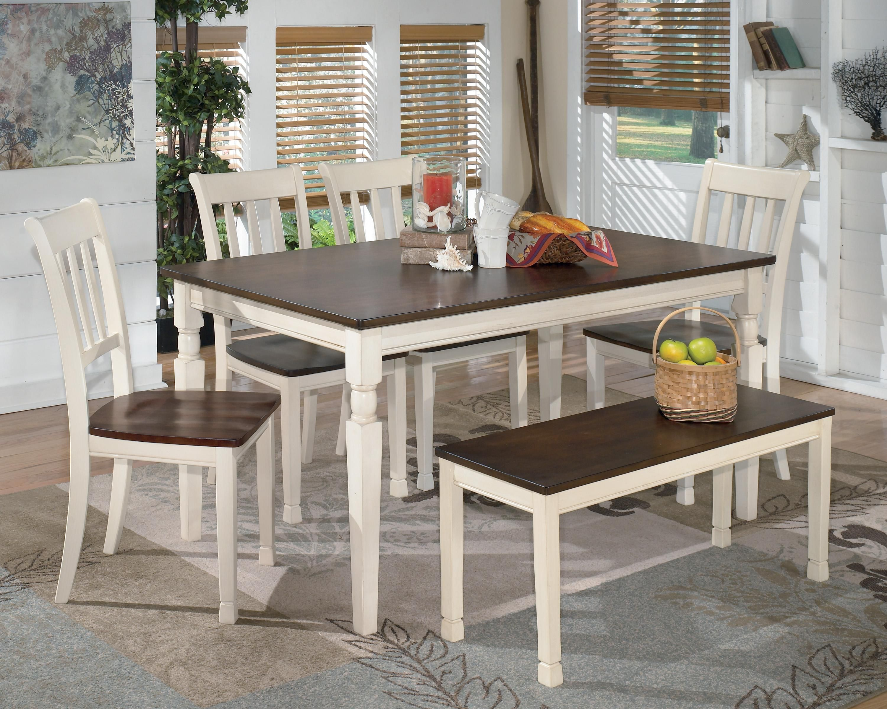 Room Whitesburg 6 Piece Rectangular Table Set with