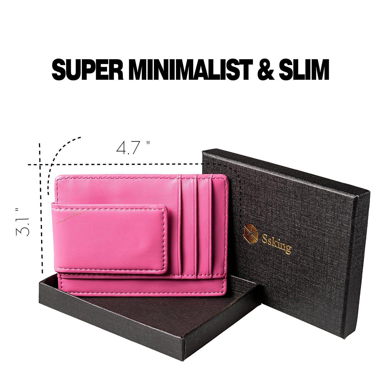 Money clip front pocket wallet slim minimalist wallet rfid