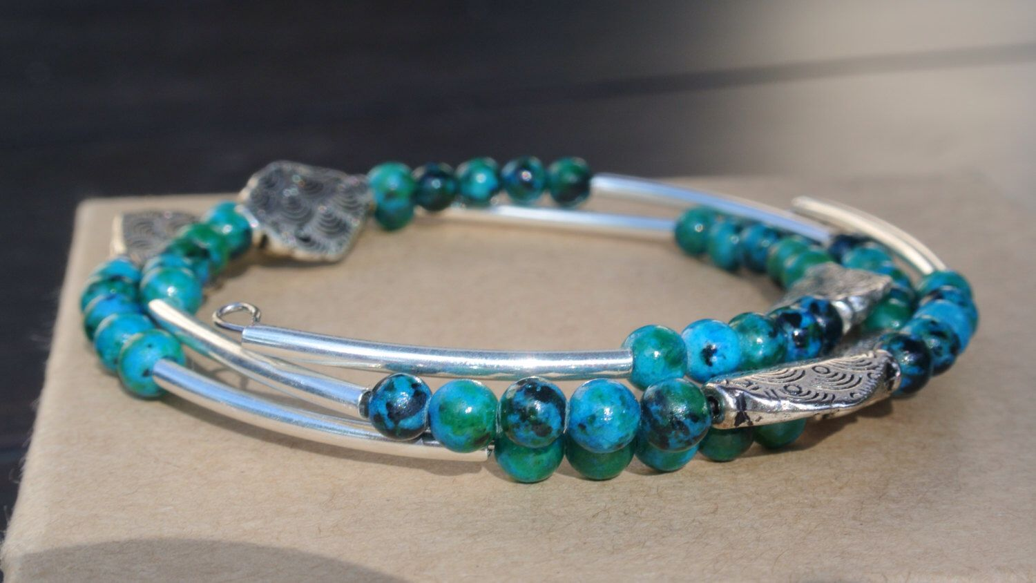 Elegant and fun! The mix of blues and sivers on this wrap bracelet make it the perfect peice of jewlery for all occassions ! by Momsawrapstar on Etsy https://www.etsy.com/listing/215914575/elegant-and-fun-the-mix-of-blues-and