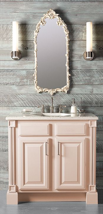 colorinspire bathroom shabby chic vanity in light blush pink color rh pinterest com