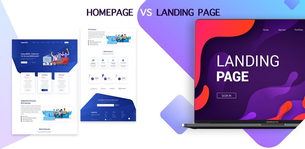 Landing Page Vs Homepage What S The Difference In 2020 What Is Fashion Designing Landing Page Web App Design