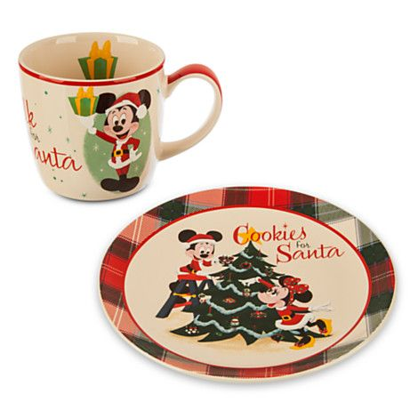 Mickey Mouse Holiday Mug and Plate Set---I wannnnt  sc 1 st  Pinterest & Mickey Mouse Holiday Mug and Plate Set---I wannnnt   Disney Home ...