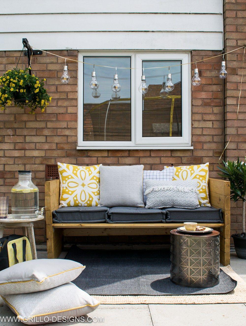 build an easy modern outdoor sofa diy and crafts pinterest rh pinterest com