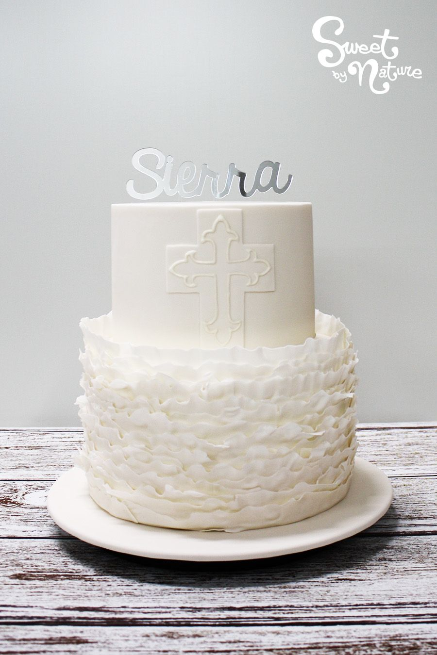 Sierras Christening Cake Is A Gorgeous Simple And Elegant