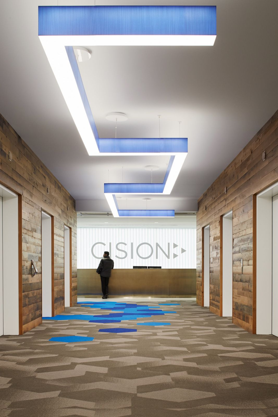 office tour cision chicago offices hotel elevator lobby rh pinterest com
