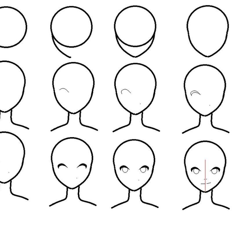 How To Draw An Anime Head Face Wajah Karikatur