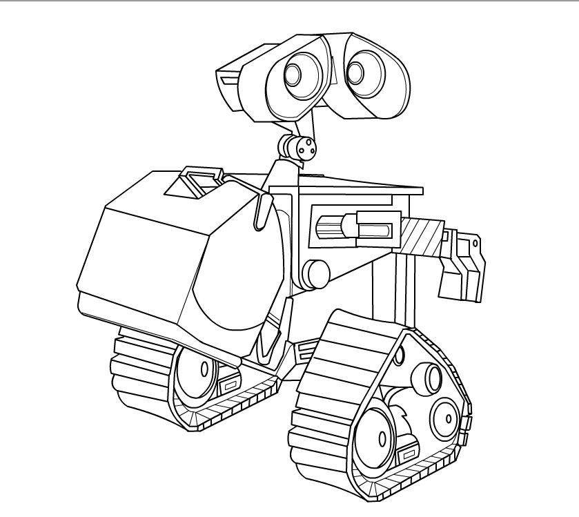 Wall E Coloring Pages For Kids Printable Online Coloring 5