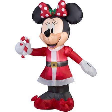 Minnie Mouse Inflatable Christmas With Candy Cane Pinterest - inflatable christmas yard decorations