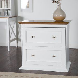 Bush Furniture Fairview Lateral File Cabinet Antique White Wood File Filing Cabinet Home Office Furniture