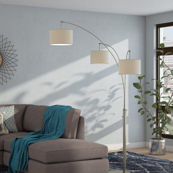 Arc Floor Lamp Behind Sectional