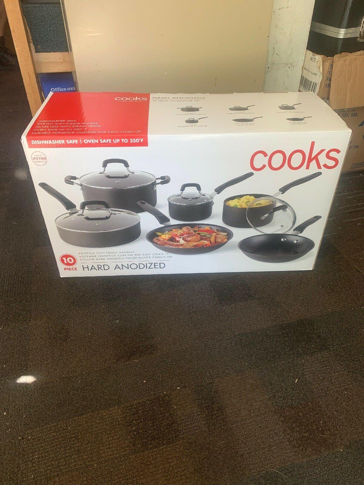 Cooks Hard Anodized 10 Piece Cookware Set Cookware Sets Ideas