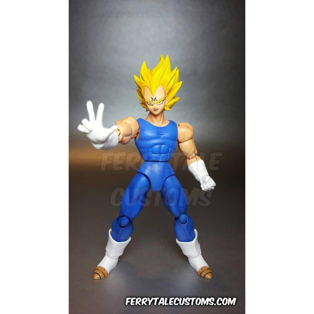 Custom S.H Figuarts Majin Vegeta #SonGokuKakarot   Dragon Ball Z ...