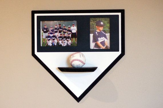 Baseball Photo Frame Ball Bat Holder Homeplate Wall By Phds