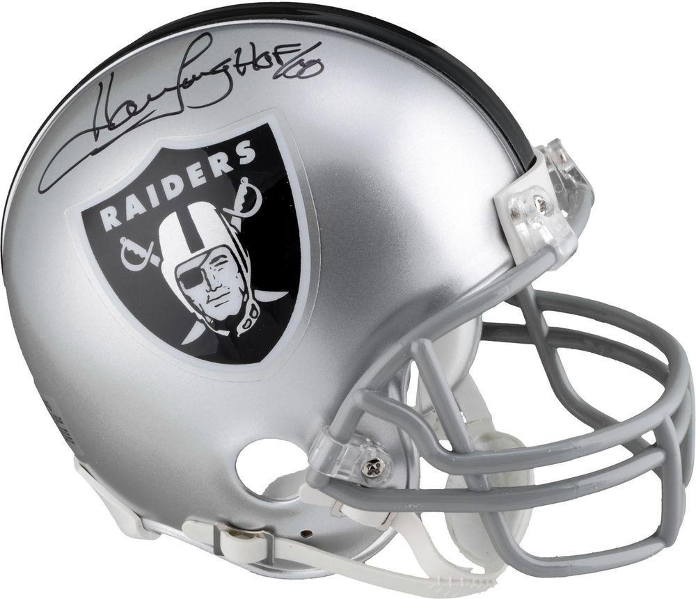 71a7cda25d4 Howie Long Oakland Raiders Signed Riddell Mini Helmet w  HOF 00 Insc -  Fanatics