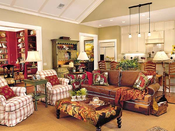Fabrics Colors Everything French Country Living Room Home Family Room