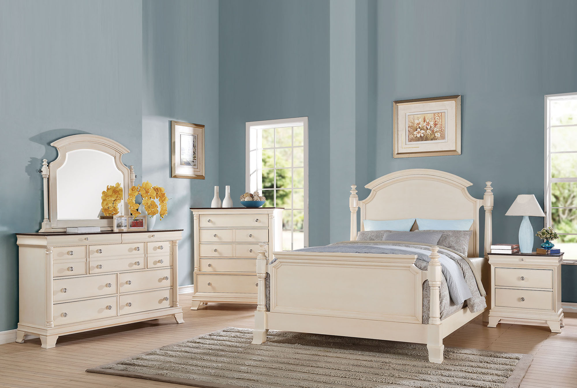 Tahira Queen Poster Bed Acme Furniture Home Gallery
