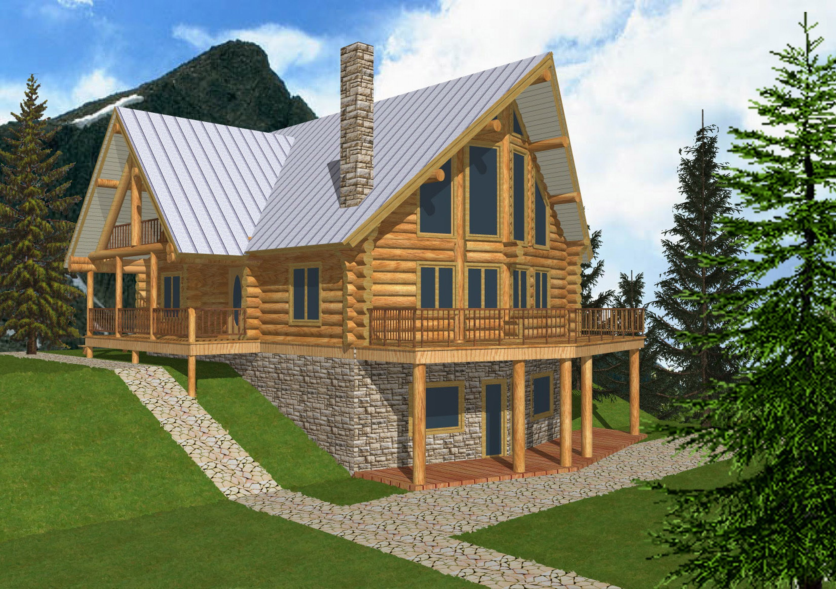 log home plans and pictures 3500