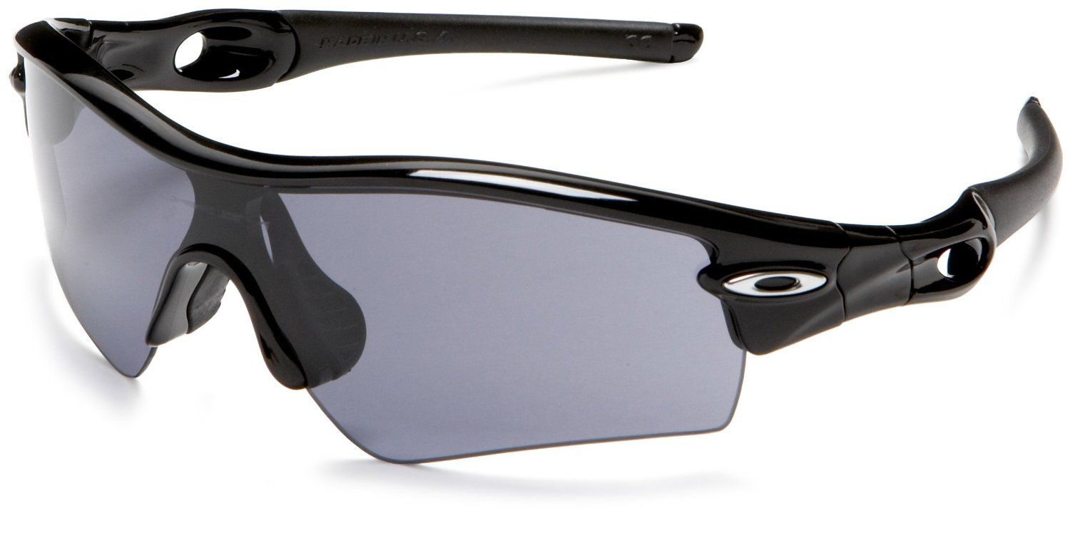 Oakley Men`s Radar Path Sunglasses,Jet Black Frame/Grey Lens,one size