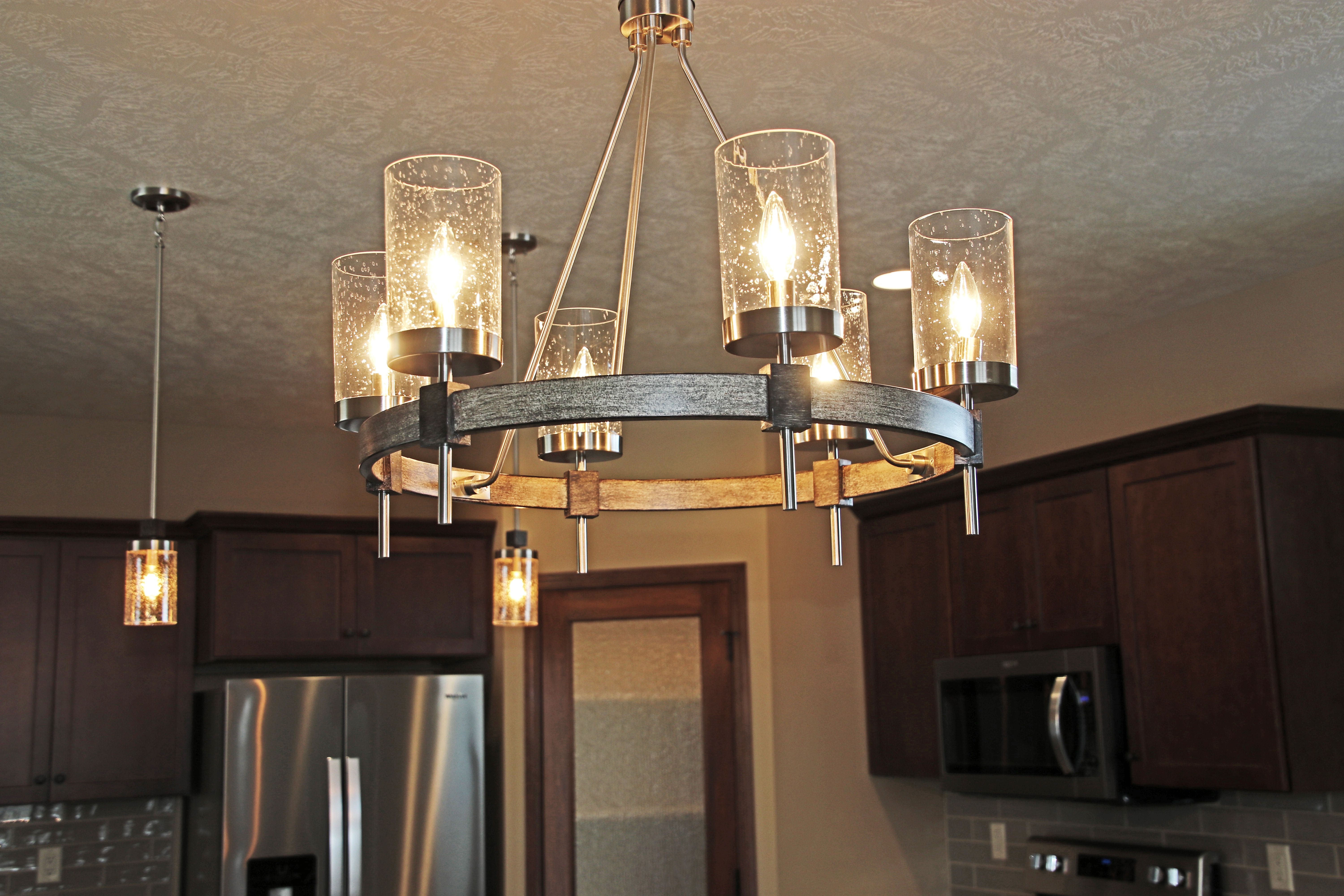Minka Lavery Six Light Chandelier In Bridlewood In Dining Room