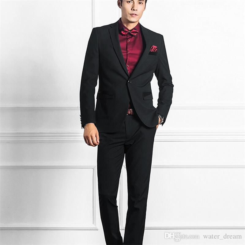 Black The Groom Tuxedos Morning Style Silver Vest Peak Lapel Best ...