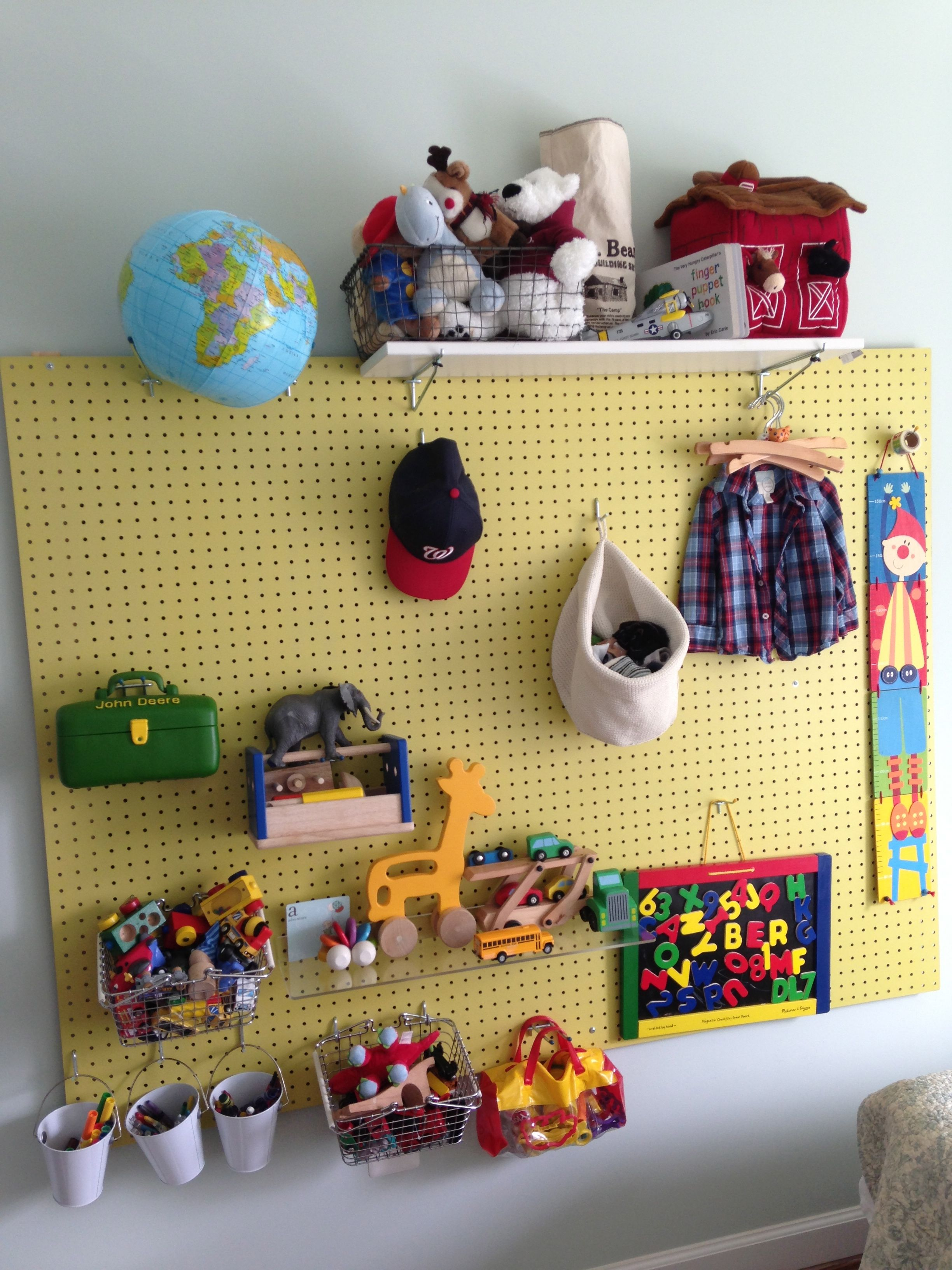 JB's pegboard toy storage   Dreaming of the perfect home ...