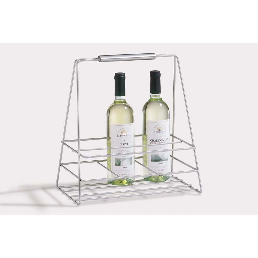 Bernardo Rustic Luxe Tiered Wall Mounted Wine Glass Rack Set Of 2