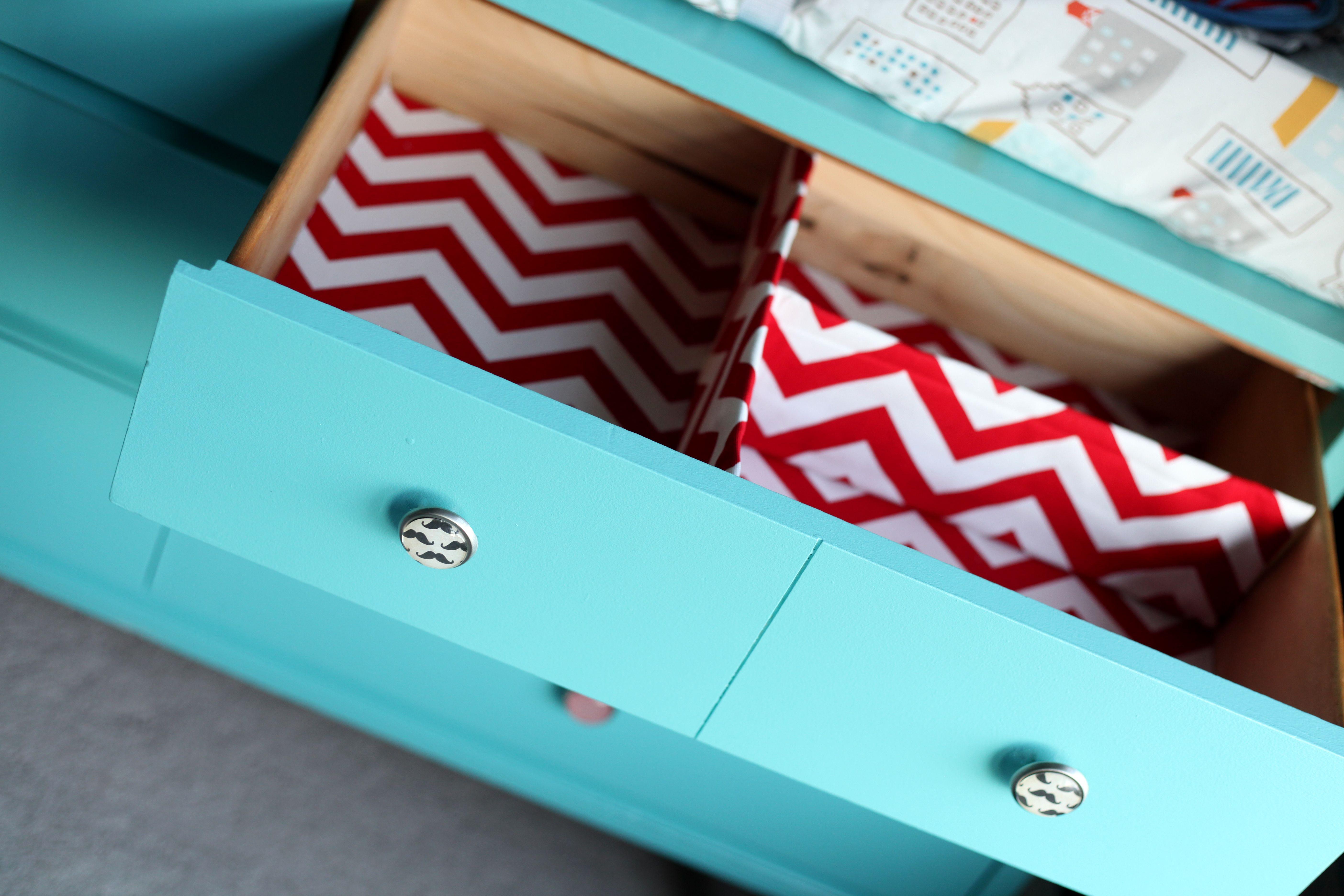 DIY Fabric Drawer dividers