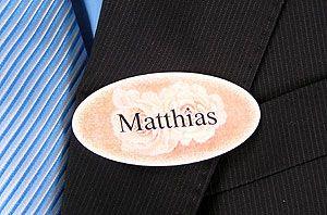Hochzeit-Namensschild