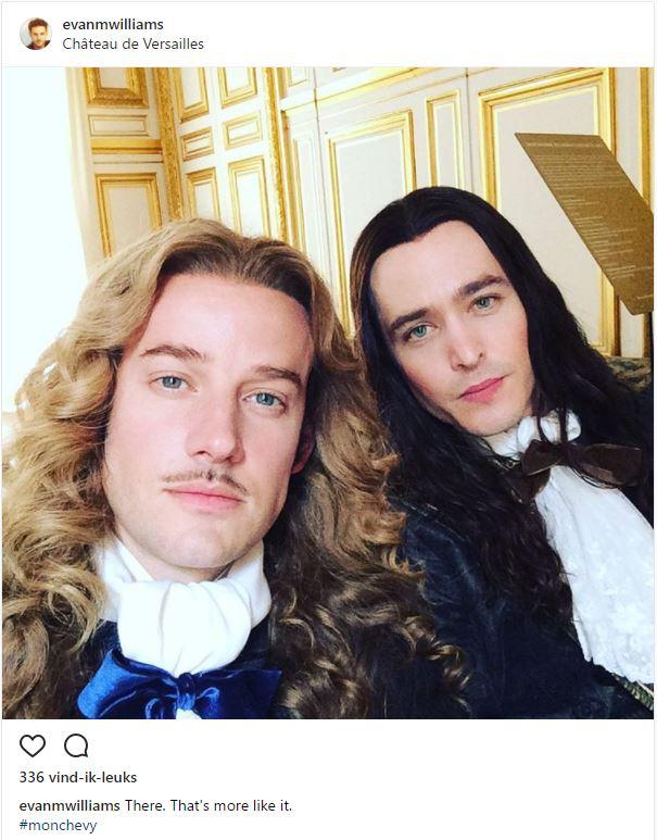 The amazing Evan Williams as the Chevalier de Lorraine