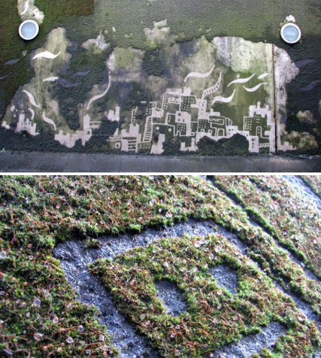 Removing Moss as Art: Reverse Graffiti Goes Subtractive