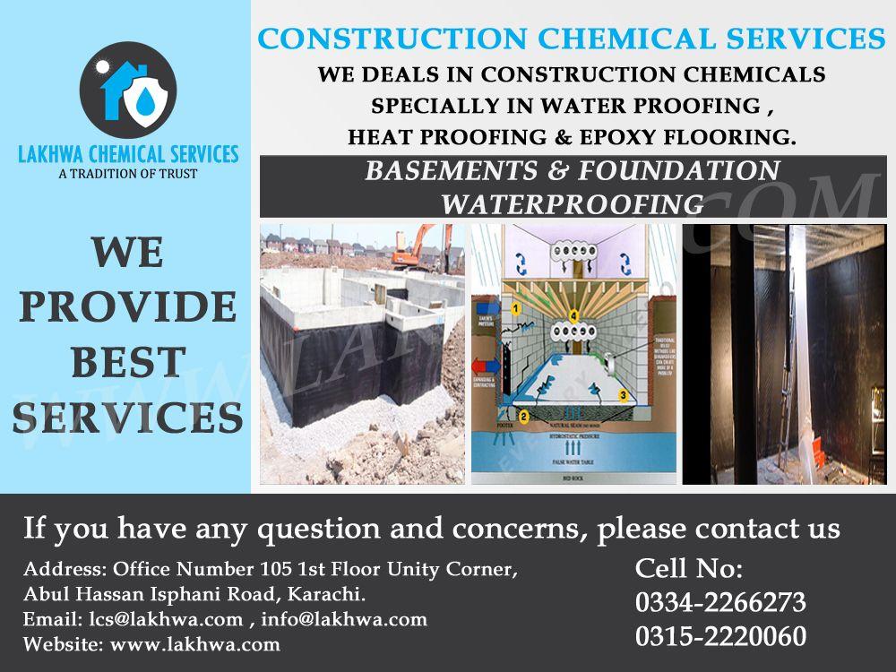 lakhwa chemical services construction chemical services in karachi rh pinterest com