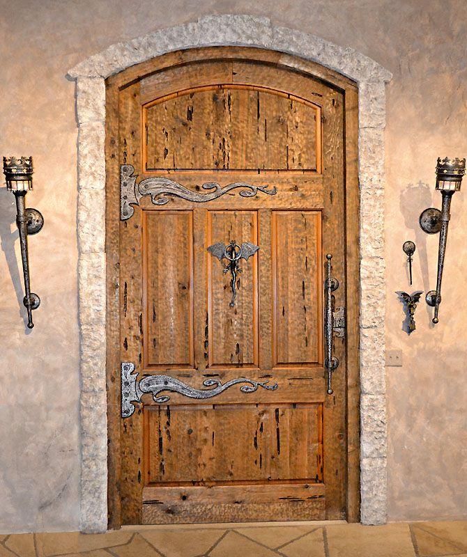 Medieval Front Doors: Custom Medieval Castle Door: Fine Art Hand Forged Iron