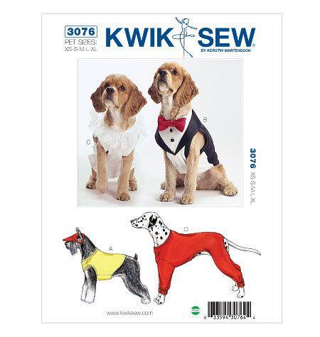 Dog Coat Pattern Xs Small Med Lrg X Large Pet Shirt Tuxedo Bow Tie