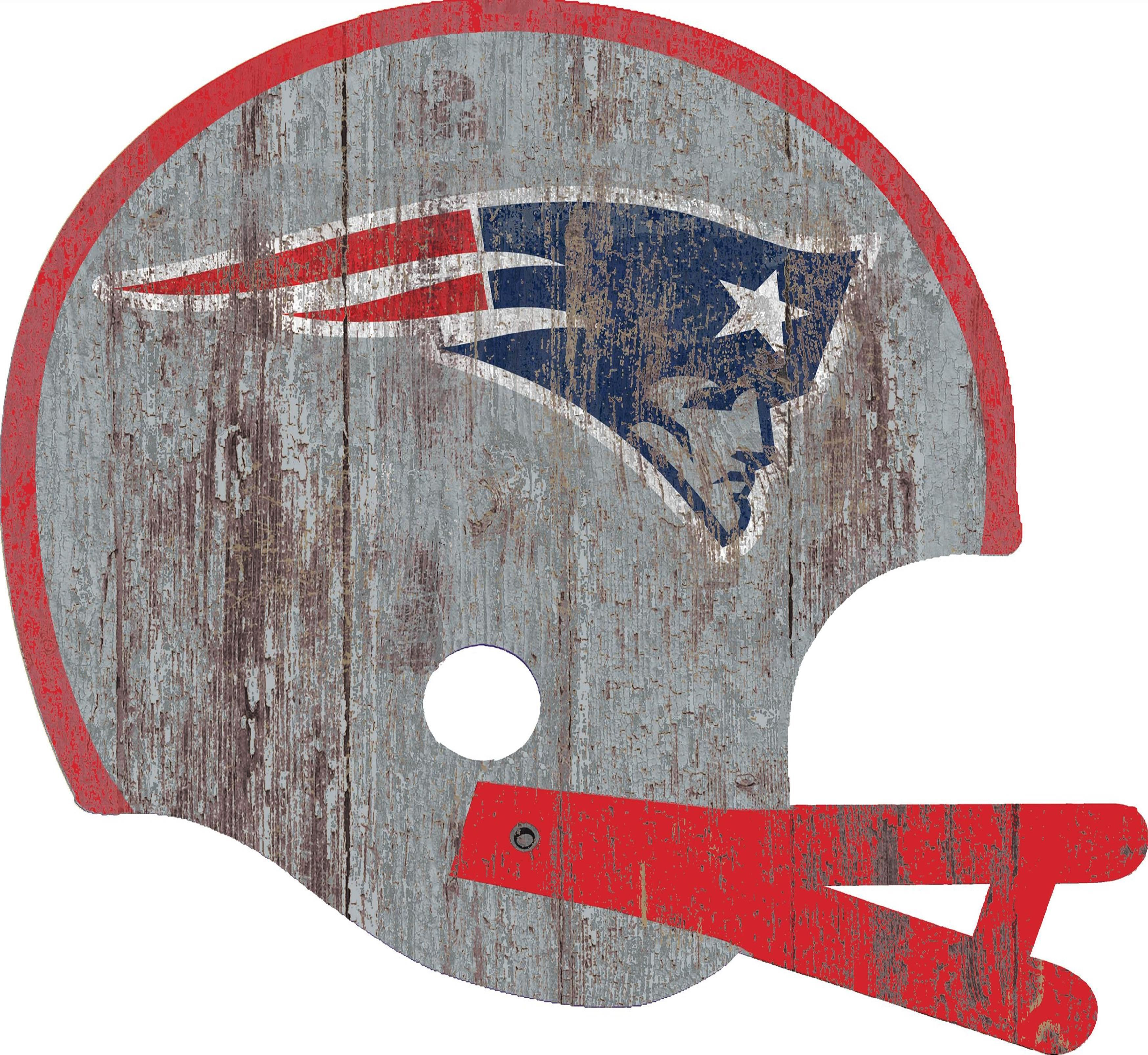 New England Patriots Distressed Helmet Cutout 24 Wall Art Fan Creations Patriots Fans Nfl New England Patriots