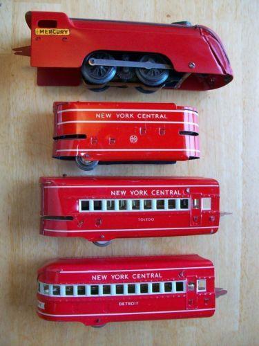 Marx-Train-Engine-Mercury-w-Tender-Toledo-Detroit