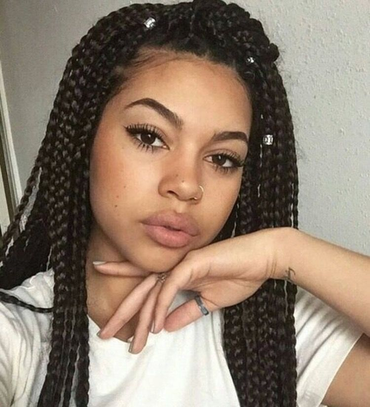 Box Braids | Box braids hairstyles, Braided hairstyles ...