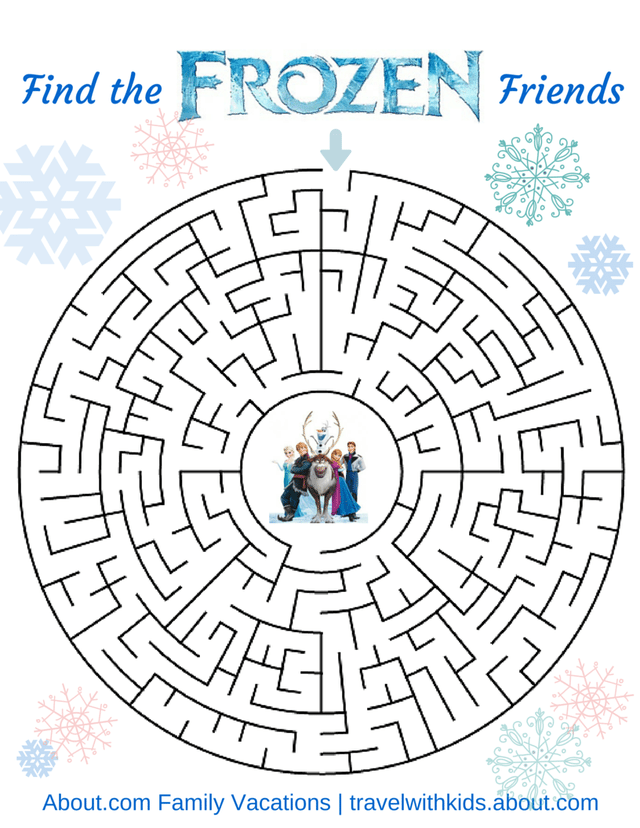 picture relating to Frozen Word Searches named 14 Free of charge Printable Disney Term Queries, Mazes, and Game titles