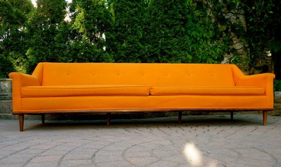 great color extra long mid century modern sofa couch daybed by rh pinterest com