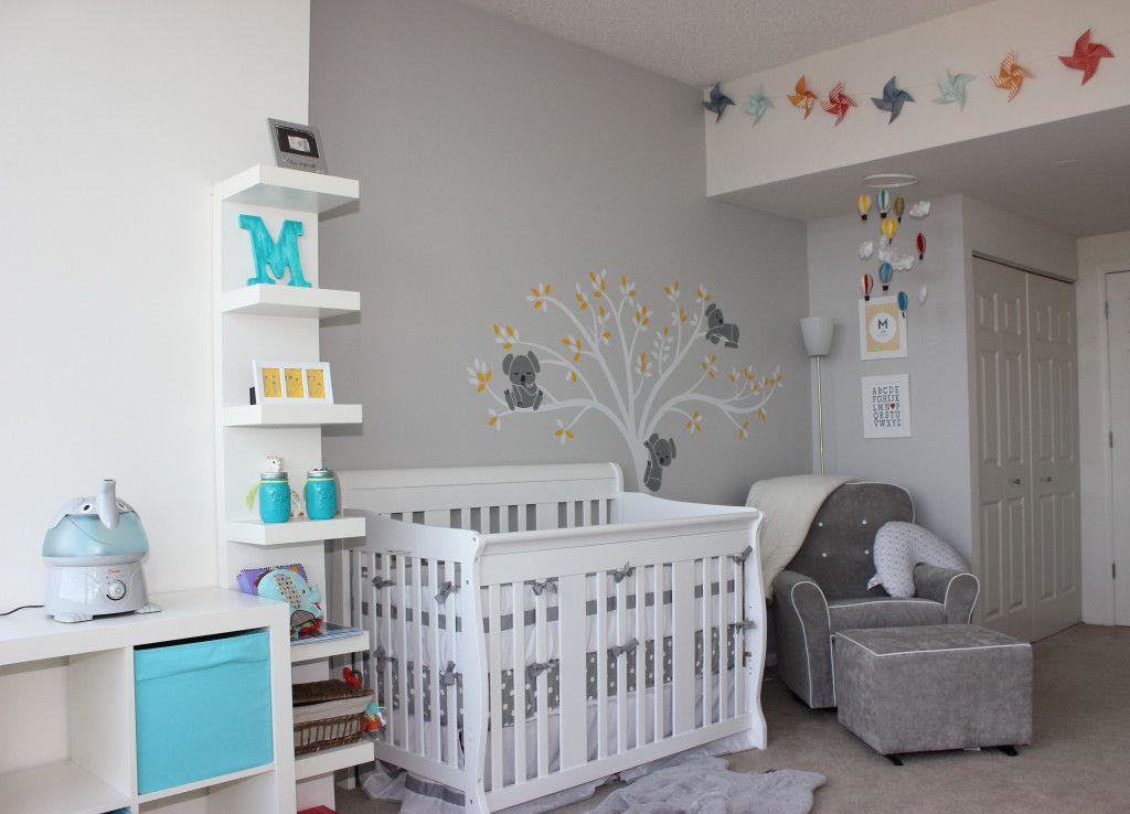 Baby M Modern Gray Nursery Baby M